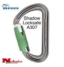 DMM Shadow Locksafe, Carabiner, 24Kn Titanium/Green Color