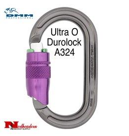 DMM Ultra O Duralock, Carabiner, 25Kn Titanium/Purple Color