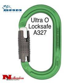 DMM Ultra O Locksafe, Carabiner, 25Kn Titanium/Green Color