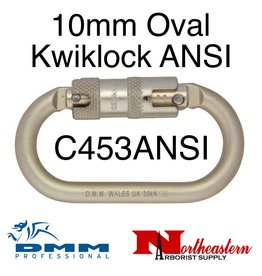 DMM 10mm Steel Oval Kwiklock ANSI, Carabiner, 30Kn Light Gold Color