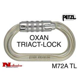 Petzl Carabiner, OXAN Steel High-strength oval, TRIACT-LOCK, 38 kN Max.