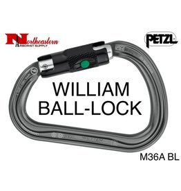 Petzl Carabiner, WILLIAM BALL-LOCK, 27kN Max.