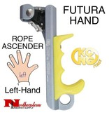 KONG FUTURA HAND, Rope Ascender, Left, Titanium/Yellow