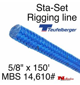 """Teufelberger Sta-Set 5/8"""" x 150' 14,610# MBS Coated Blue"""