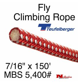 """Teufelberger Fly Climbing Rope, 7/16"""" x 150' - 5,400# MBS"""