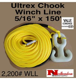 "Yale Cordage Ultrex Chook Winch Rope 5/16"" x 150' - 2,200 WLL"