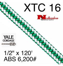 """Yale Cordage XTC 16-Strand Spearmint, 1/2"""" x 120' 6,200# ABS"""