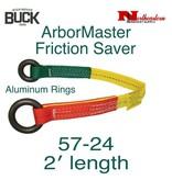 Buckingham Friction Saver 2' Hardcoat Anodized Aluminum Rings, 5000 lbs.