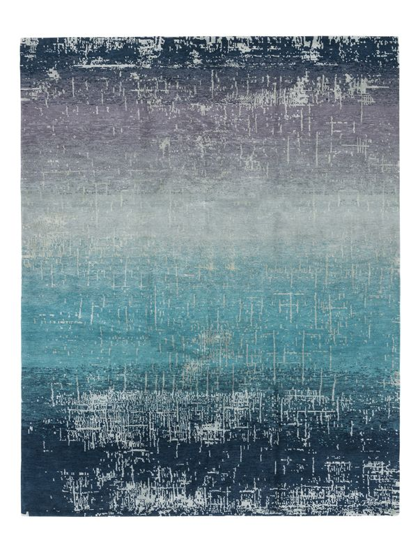 """Style: Contemporary<br>Size: 5'6""""x8'6""""<br>Content: Wool, Silk & Linen<br>Weave: Hand Knotted<br>Origin: Nepal"""