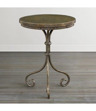 Bassett Furniture Discoveries Antique Brass Accent Table
