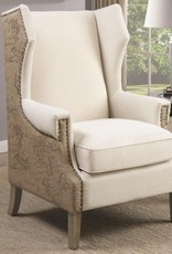 Burlap Accent Chair