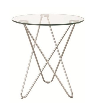 Coaster Silver Accent Table