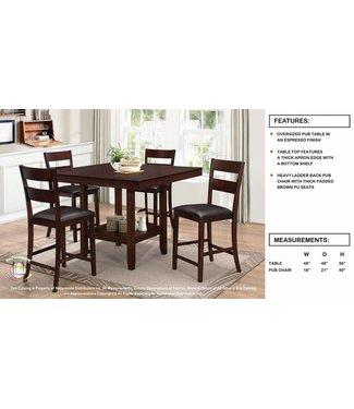Coaster Espresso Pub Table