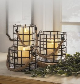 GANZ Grid Lantern (Set of Three)