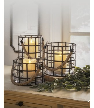 Grid Lantern (Set of Three)