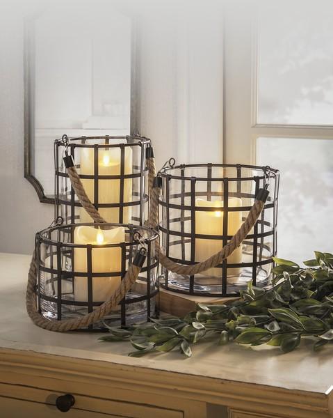 GANZ Grid Lantern (Set of Three)