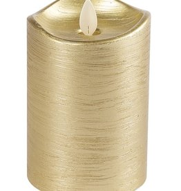 GANZ 3x5 Wax LED Pillar Candle (Gold)