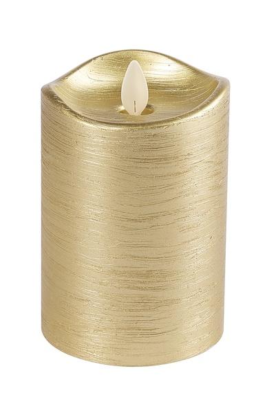 GANZ 3x5 Wax LED Pillar Candle (Gold)