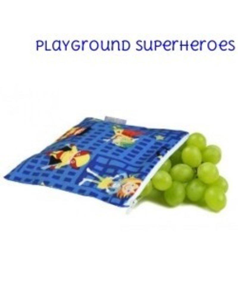 Itzy Ritzy Itzy Ritzy Mini Snack Bag- Playground Superheroes