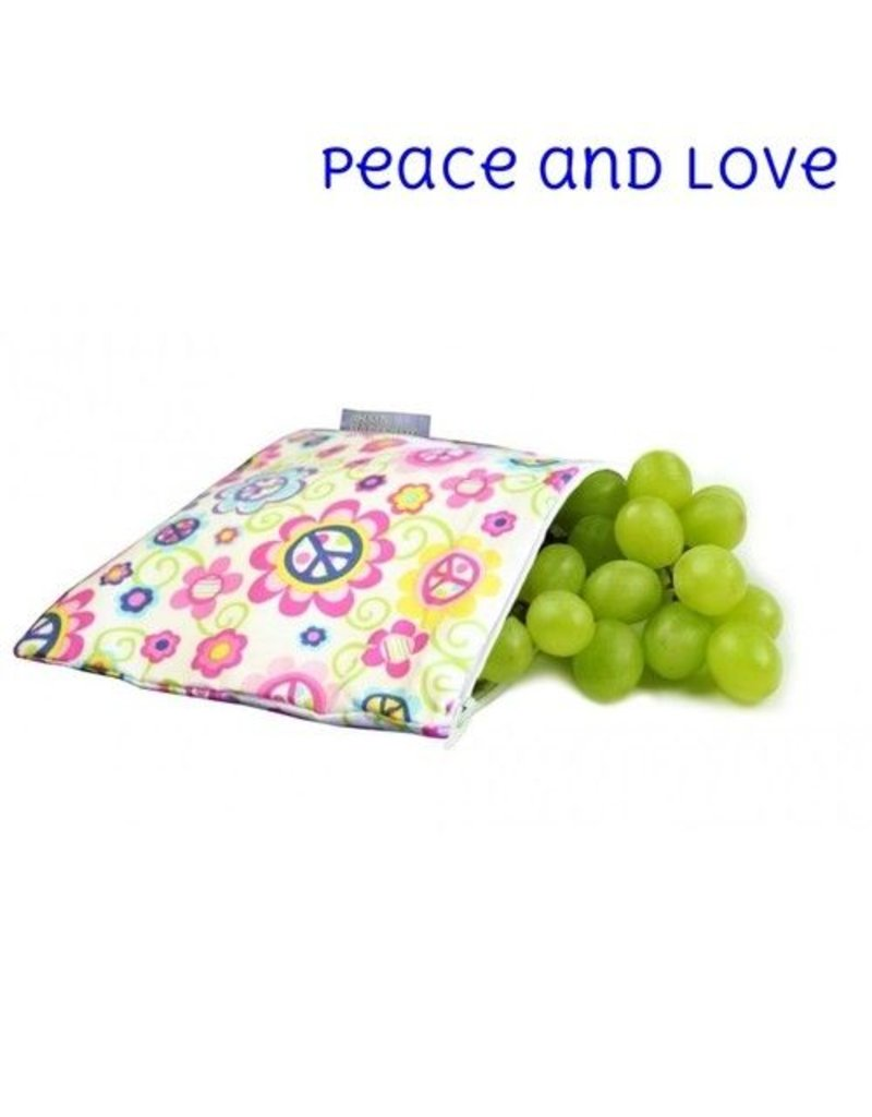 Itzy Ritzy Itzy Ritzy Snack Bag- Peace & Love