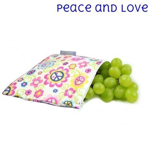 Itzy Ritzy Itzy Ritzy Snack Bag- Peace & Love