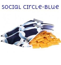 Itzy Ritzy IR Snack Bag- Social Circle (Blue)