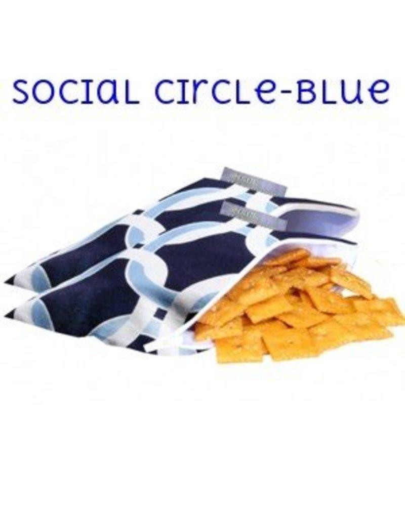 Itzy Ritzy Itzy Ritzy Snack Bag- Social Circle (Blue)