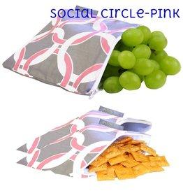 Itzy Ritzy IR Snack Bag- Social Circle (Pink)