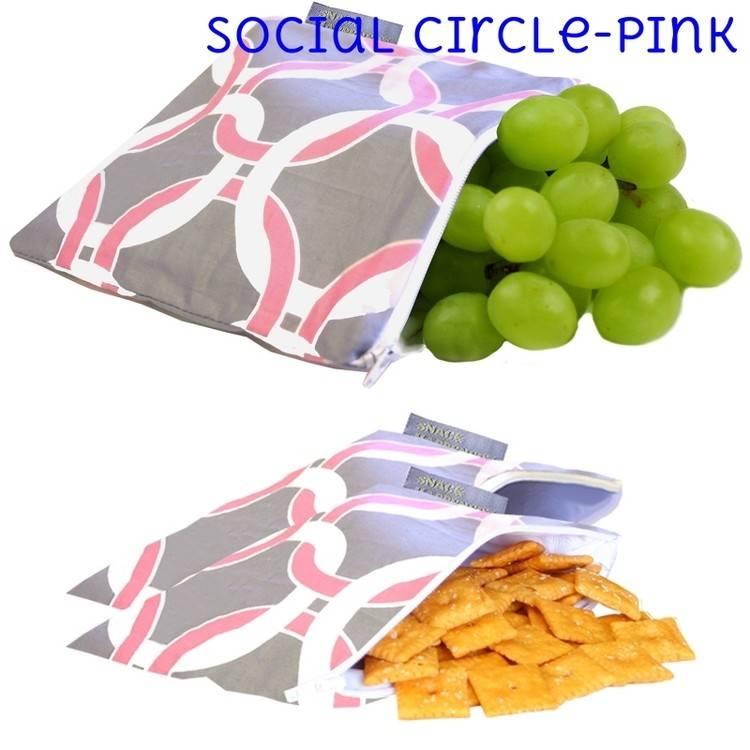 Itzy Ritzy Itzy Ritzy Snack Bag- Social Circle (Pink)
