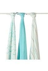 Aden + Anais Aden + Anais Azure Bamboo Swaddle Blankets