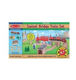 Melissa and Doug Swivel Bridge Train Set