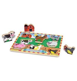 Melissa and Doug M&D Chunky Puzzle- Farm