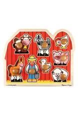 Melissa and Doug Melissa & Doug Large Farm Jumbo Knob Puzzle