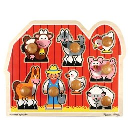 Melissa and Doug M&D Jumbo Knob Puzzle- Large Farm