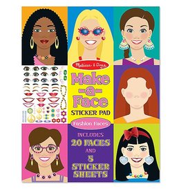 Melissa and Doug Sticker Pad- Make a Face Fashion