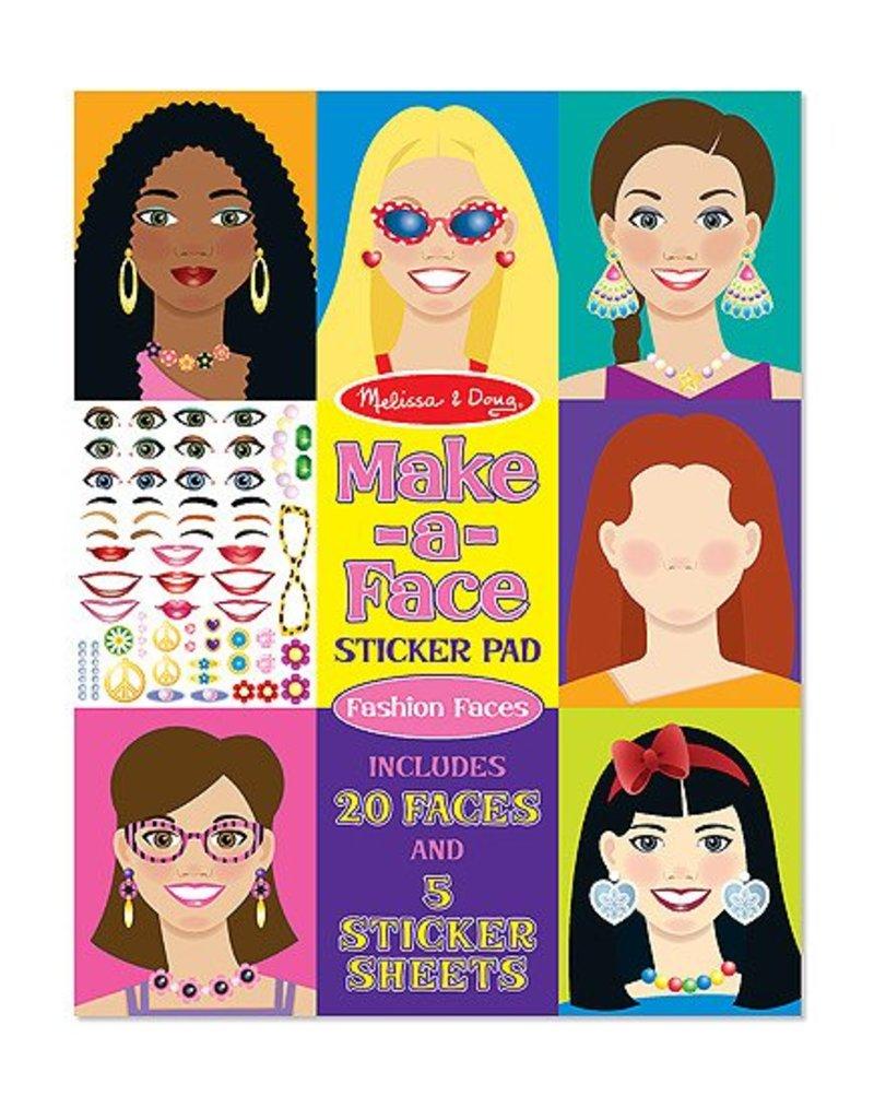 Melissa and Doug Melissa & Doug Sticker Pad- Make a Face Fashion