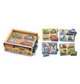 Melissa and Doug M&D Mini Puzzle Pack- Vehicles