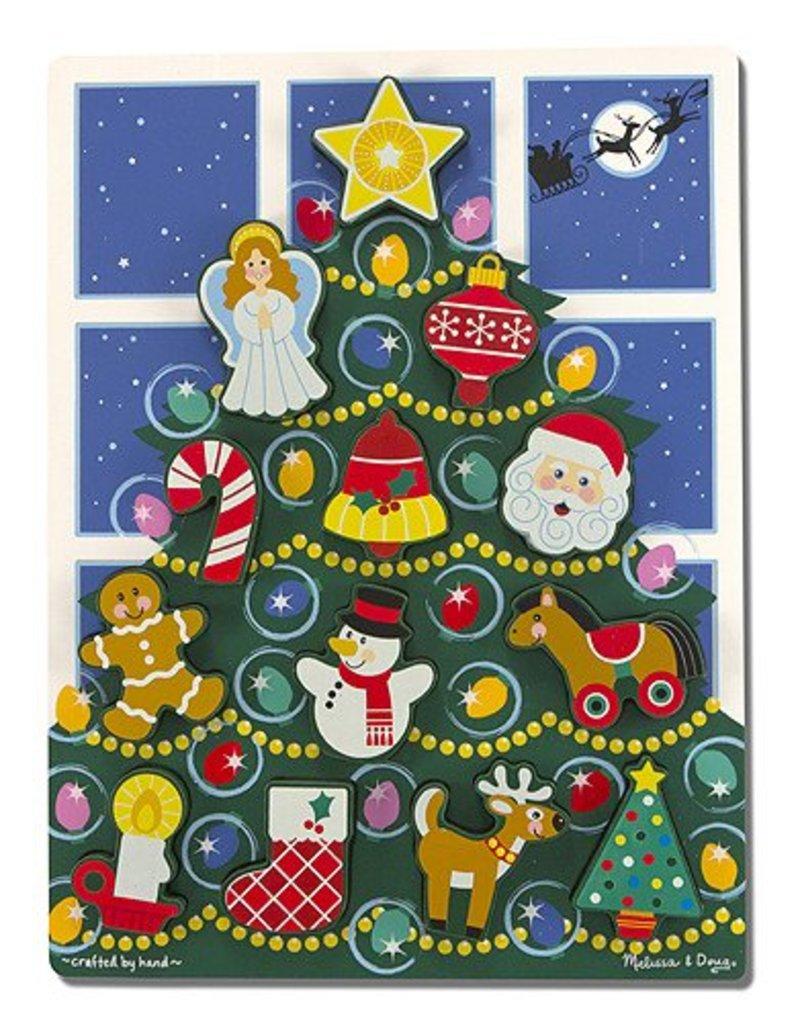Melissa and Doug Melissa & Doug Holiday Tree Chunky Puzzle