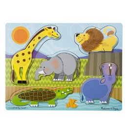 Melissa and Doug M&D Touch & Feel Puzzle- Zoo