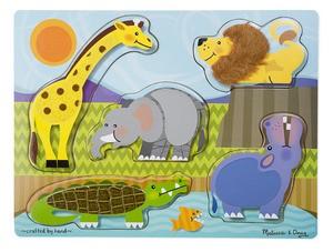 Melissa and Doug Melissa & Doug Touch & Feel Puzzle- Zoo