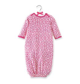 Mud Pie MP Greek Key Sleep Gown