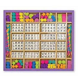 Melissa and Doug M&D Wooden Stringing Beads