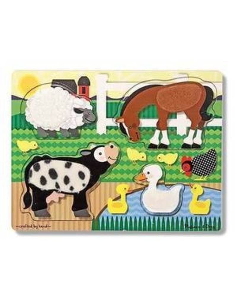 Melissa and Doug Melissa & Doug Touch & Feel Farm Puzzle