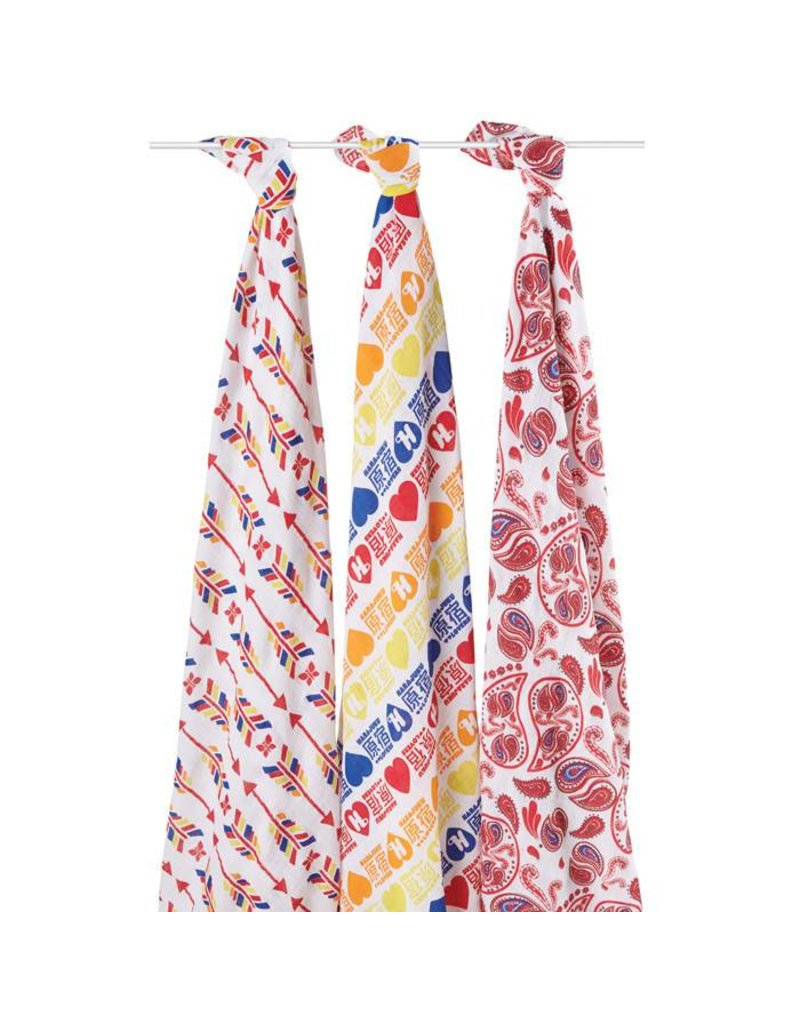 Aden + Anais Aden + Anais Limited Edition (PRODUCT) RED Organic Swaddles