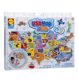 ALEX toys ALEX USA Map in the Tub Stickers