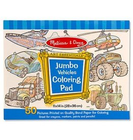 Melissa and Doug M&D Jumbo Coloring Pad- Vehicles