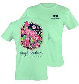 SS Simply Southern S/S Tee- Giraffe