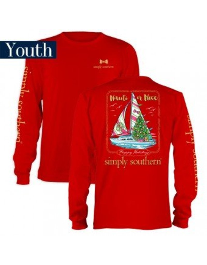 "Simply Southern Youth ""Nauti or Nice"" Long Sleeve"