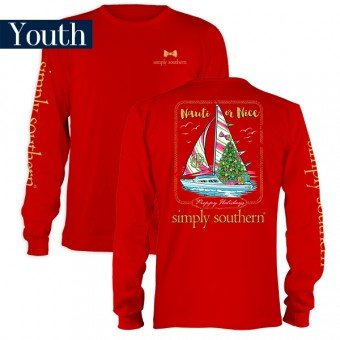 Simply Southern Youth Nauti or Nice Long Sleeve