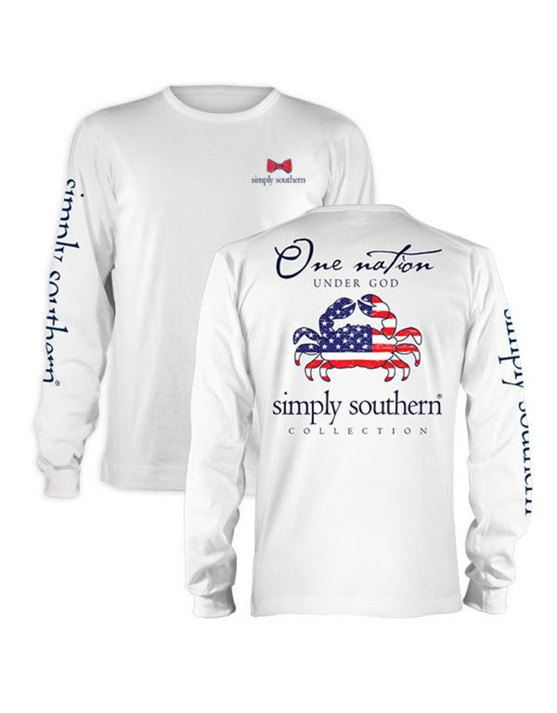 SS Simply Southern One Nation Long Sleeve Tee